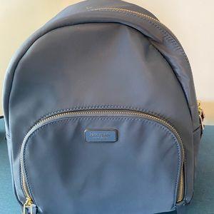 Kate spade blue nylon medium backpack